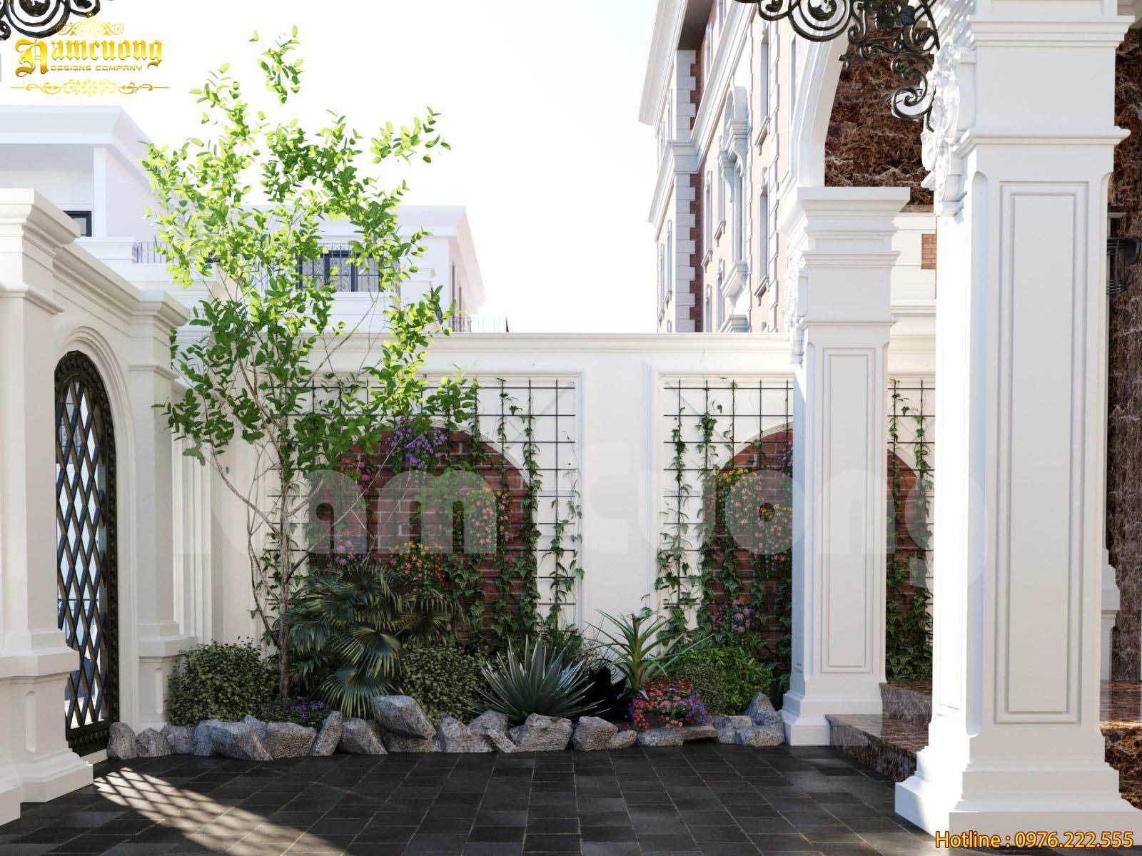 Mẫu thiết kế tiểu cảnh sân vườn cho biệt thự đẹp
