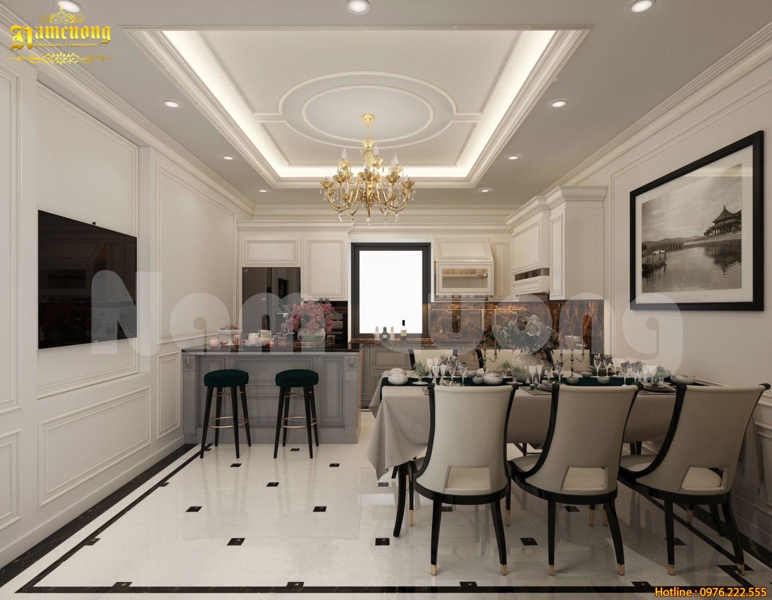 Thiết kế nội thất khách bếp cực đẹp cho gia đình- NTKB 0100