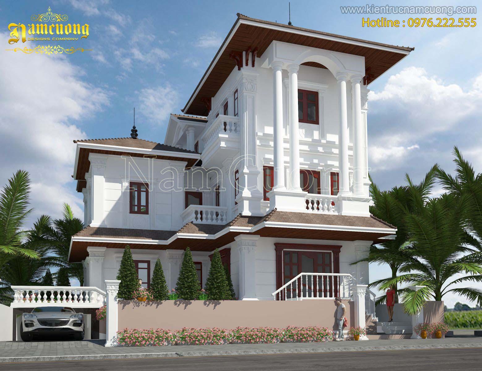 Mẫu thiết kế biệt thự tân cổ điển đẹp của CĐT anh Qúy tại Quảng Bình - BTTCD 002