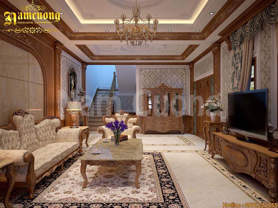 Mẫu nội thất của thiết kế biệt thự tân cổ điển tại Ninh Bình