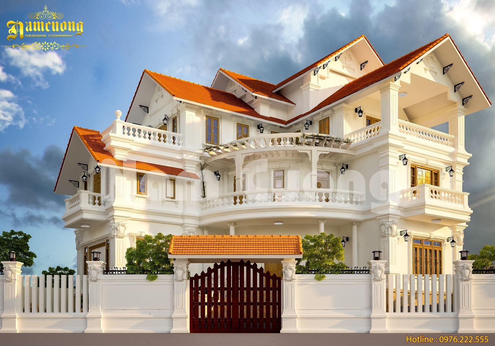 Mẫu thiết kế biệt thự tân cổ điển 3 tầng tại Quảng Ninh