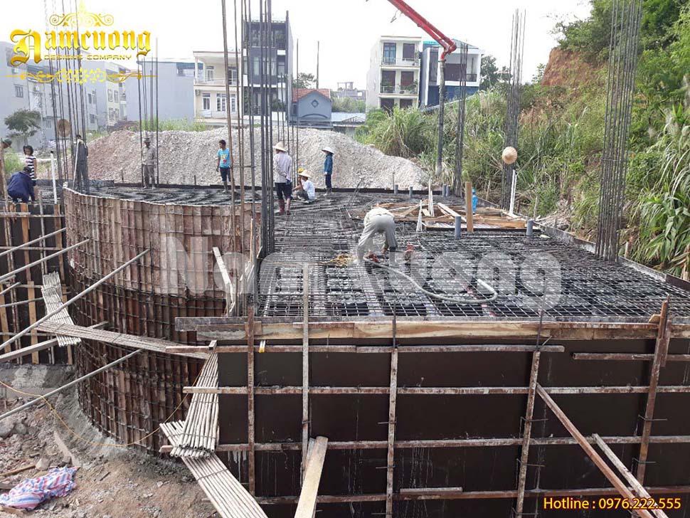 Nam Cường tiến hành thi công biệt thự cổ điển trọn gói tại Quảng Ninh