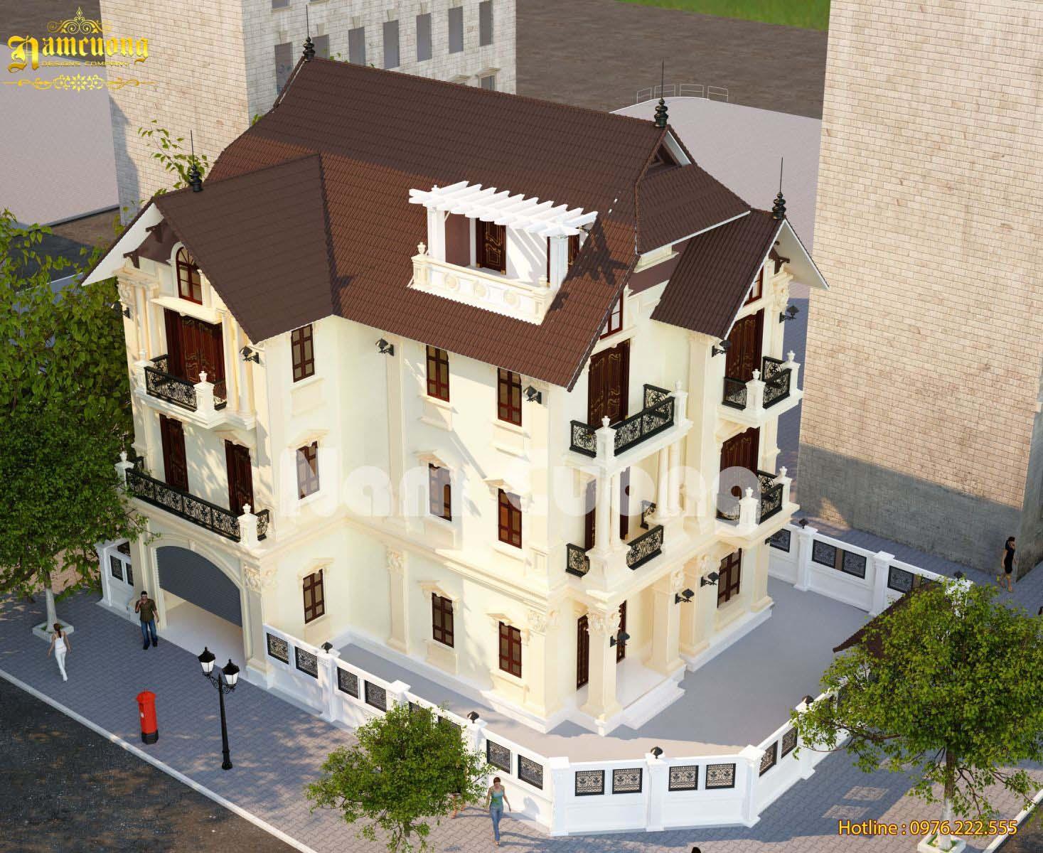 Hoàn thành thiết kế biệt thự tân cổ điển tại Quảng Trị - BTTCD 016