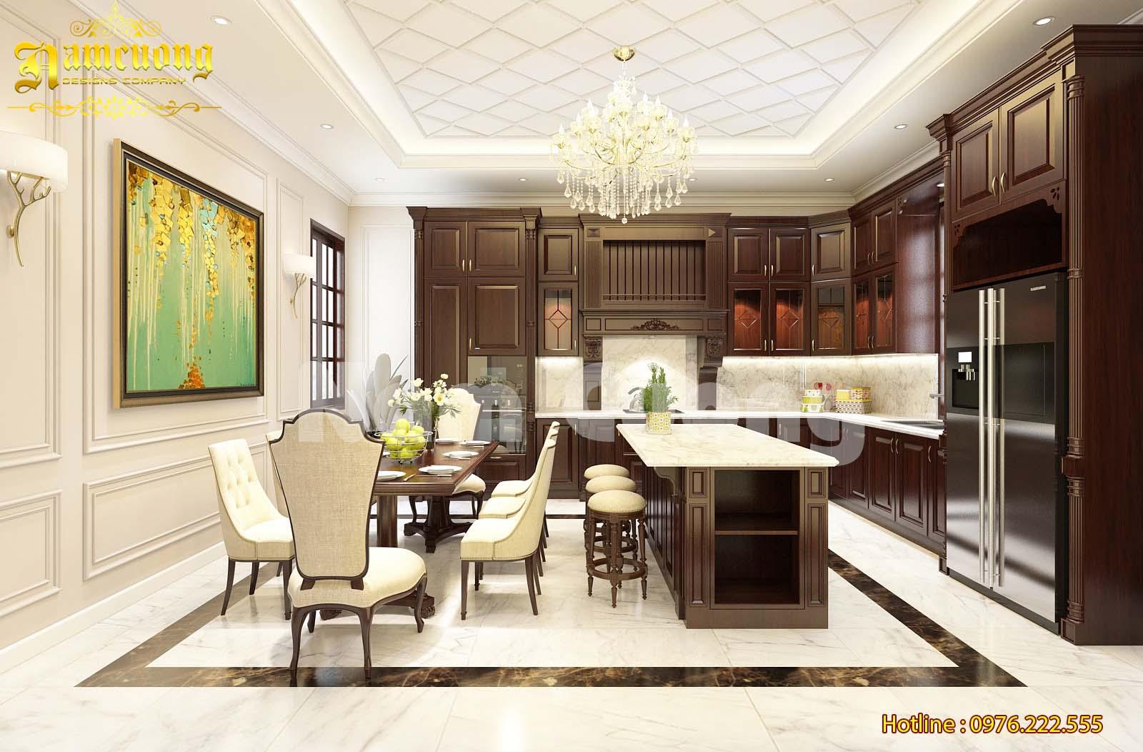 Thiết kế nội thất gỗ tự nhiên cho ngôi biệt thự