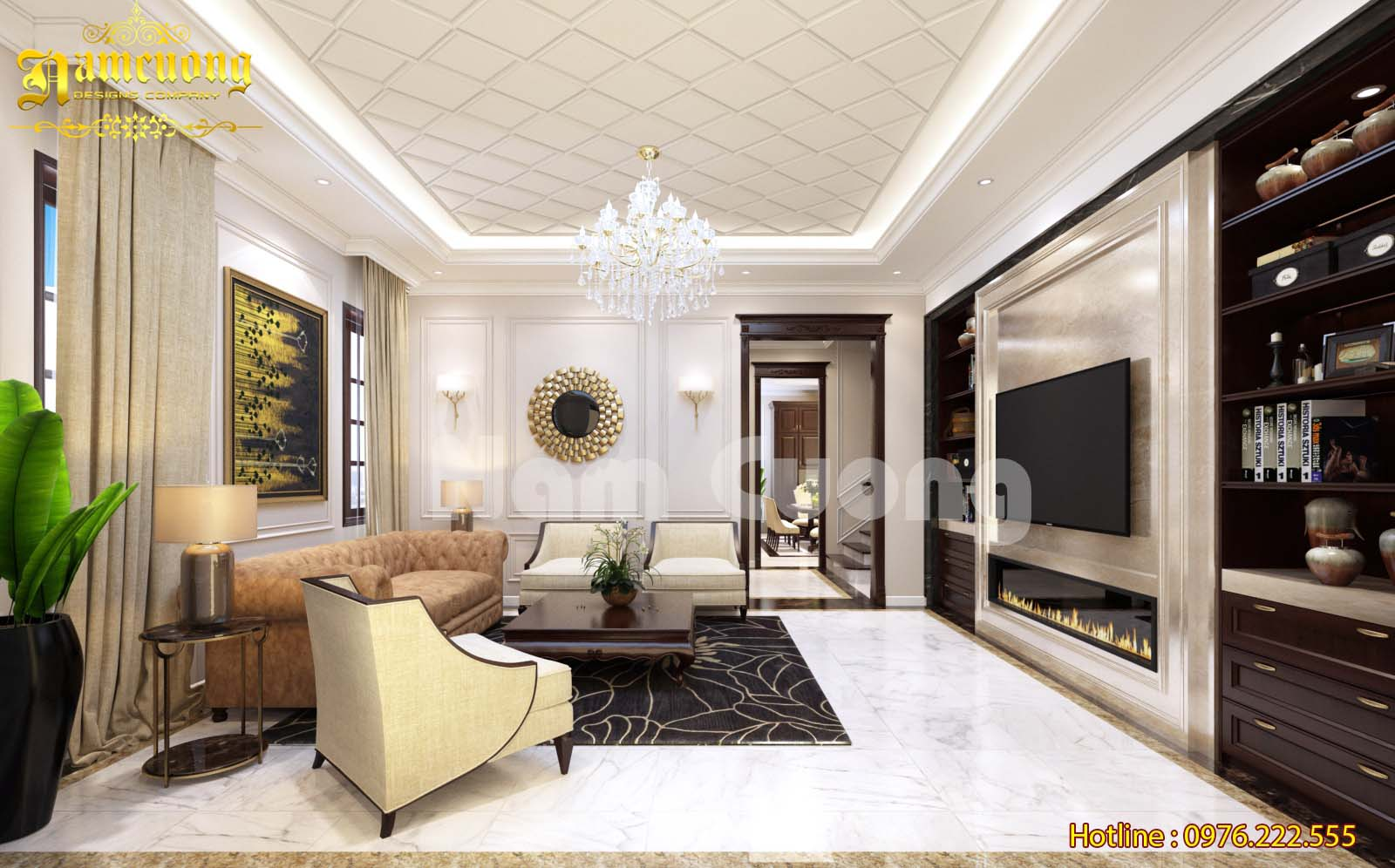 Thiết kế nội thất tân cổ điển cho ngôi biệt thự tại Quảng Bình