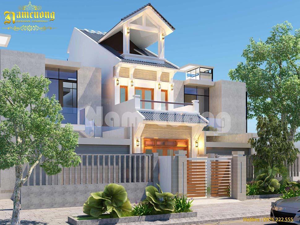 Hoàn thành thiết kế cho ngôi biệt thự tân cổ điển tại Hải Phòng - BTTCD 017
