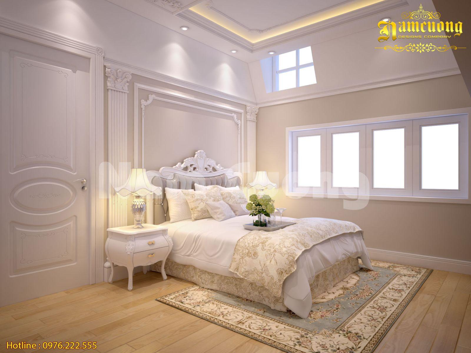 Mẫu thiết kế phòng ngủ tân cổ điển tại Móng Cái