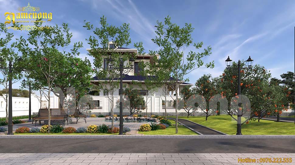 Thiết kế tiểu cảnh sân vườn đơn giản và đẹp