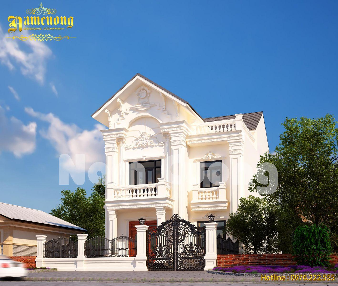 Hoàn thành mẫu biệt thự tân cổ điển đẹp tại Sài Gòn - BTTCD 021