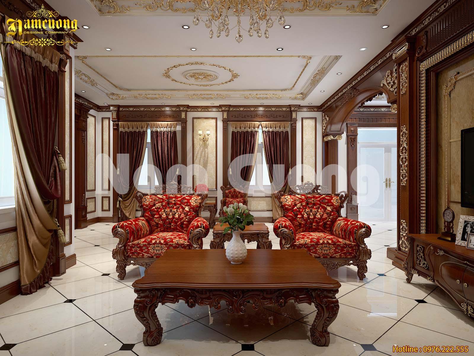 Phương án thiết kế mẫu nội thất biệt thự tân cổ điển tại Sài Gòn