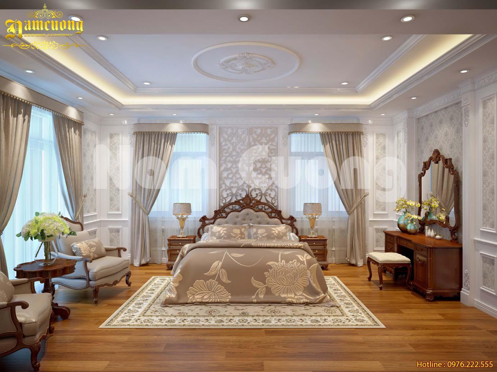 Tận hưởng không gian sống trong mẫu phòng ngủ tân cổ điển