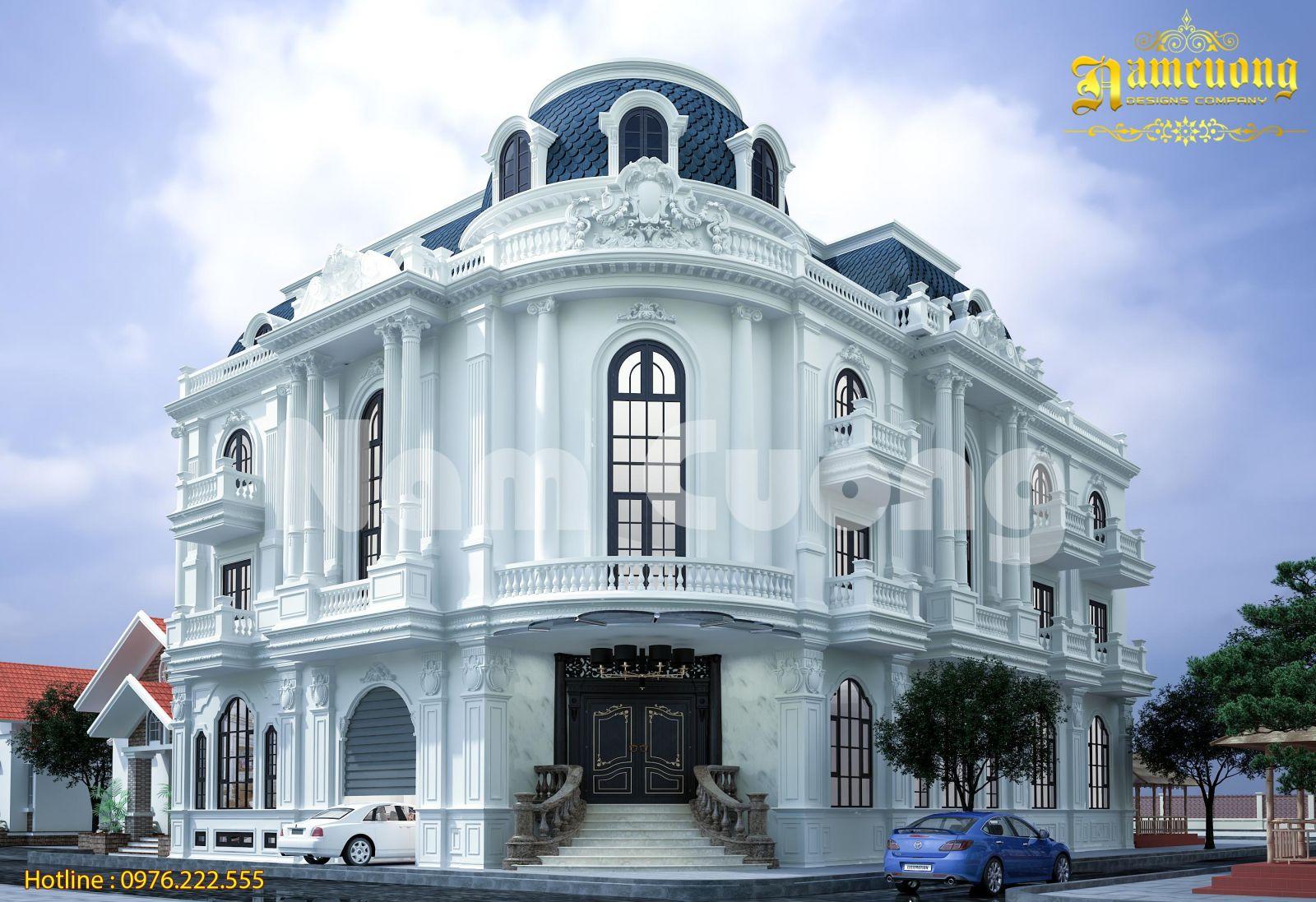Vẻ đẹp trong mẫu thiết kế biệt thự tân cổ điển mới nhất tại Nghệ An