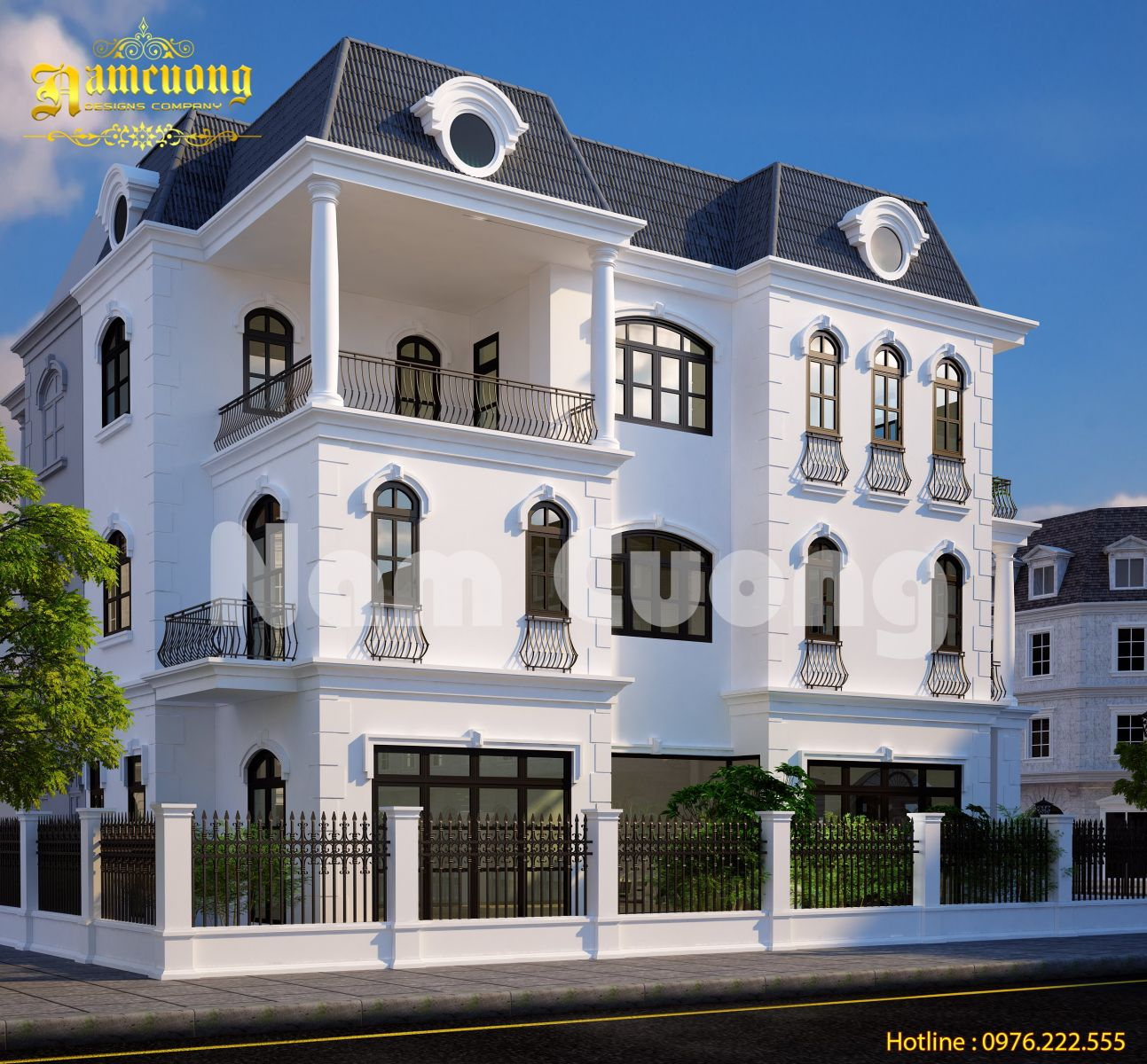 Hoàn thành mẫu thiết kế biệt thự tân cổ điển tại Vinhomes - BTTCD 026