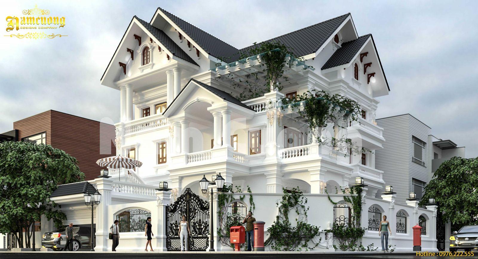 Độc đáo trong mẫu thiết kế biệt thự tân cổ điển tại Quảng Bình