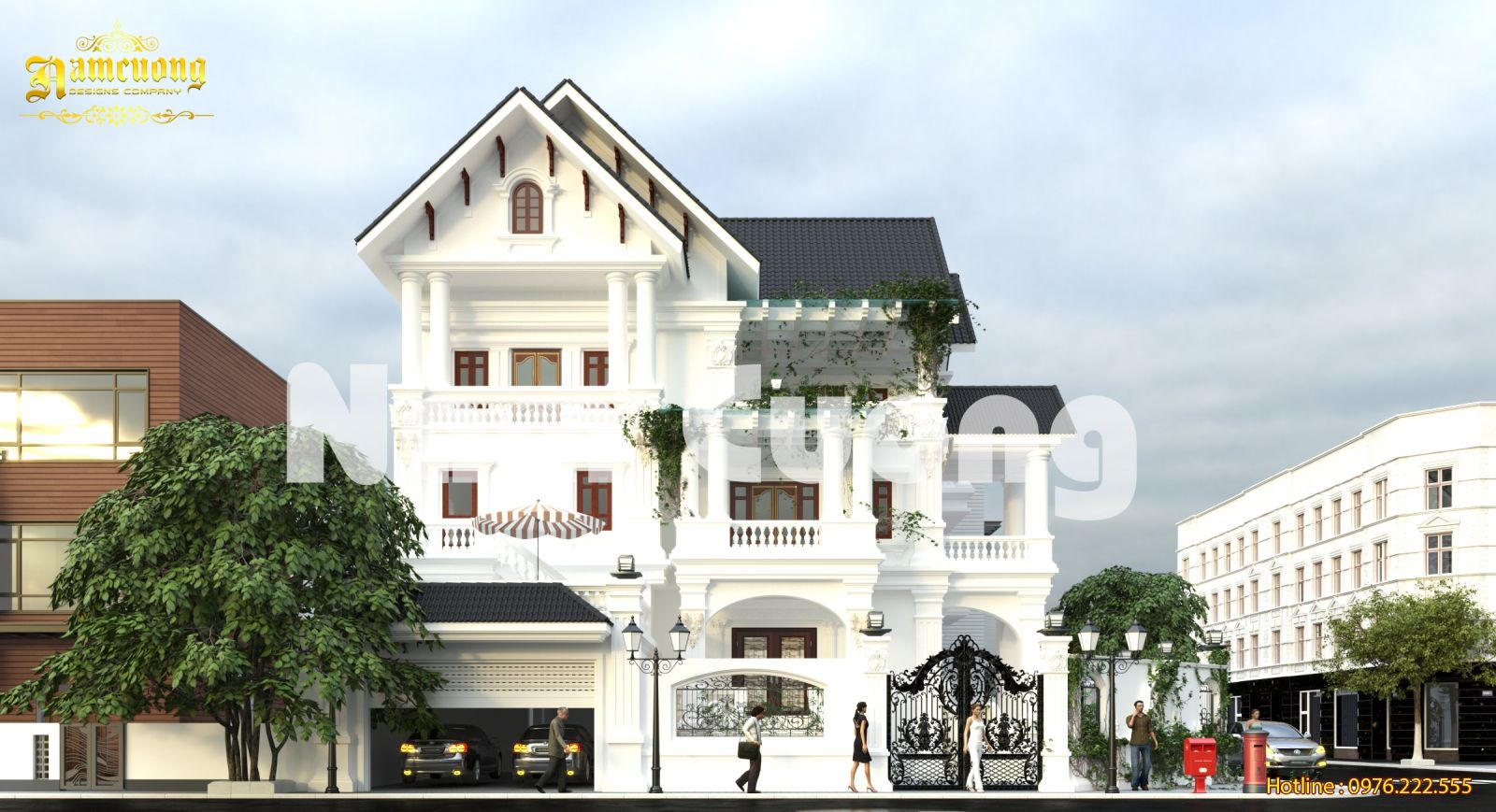 Hoàn thành thiết kế biệt thự tân cổ điển tại Quảng Bình - BTTCD 029