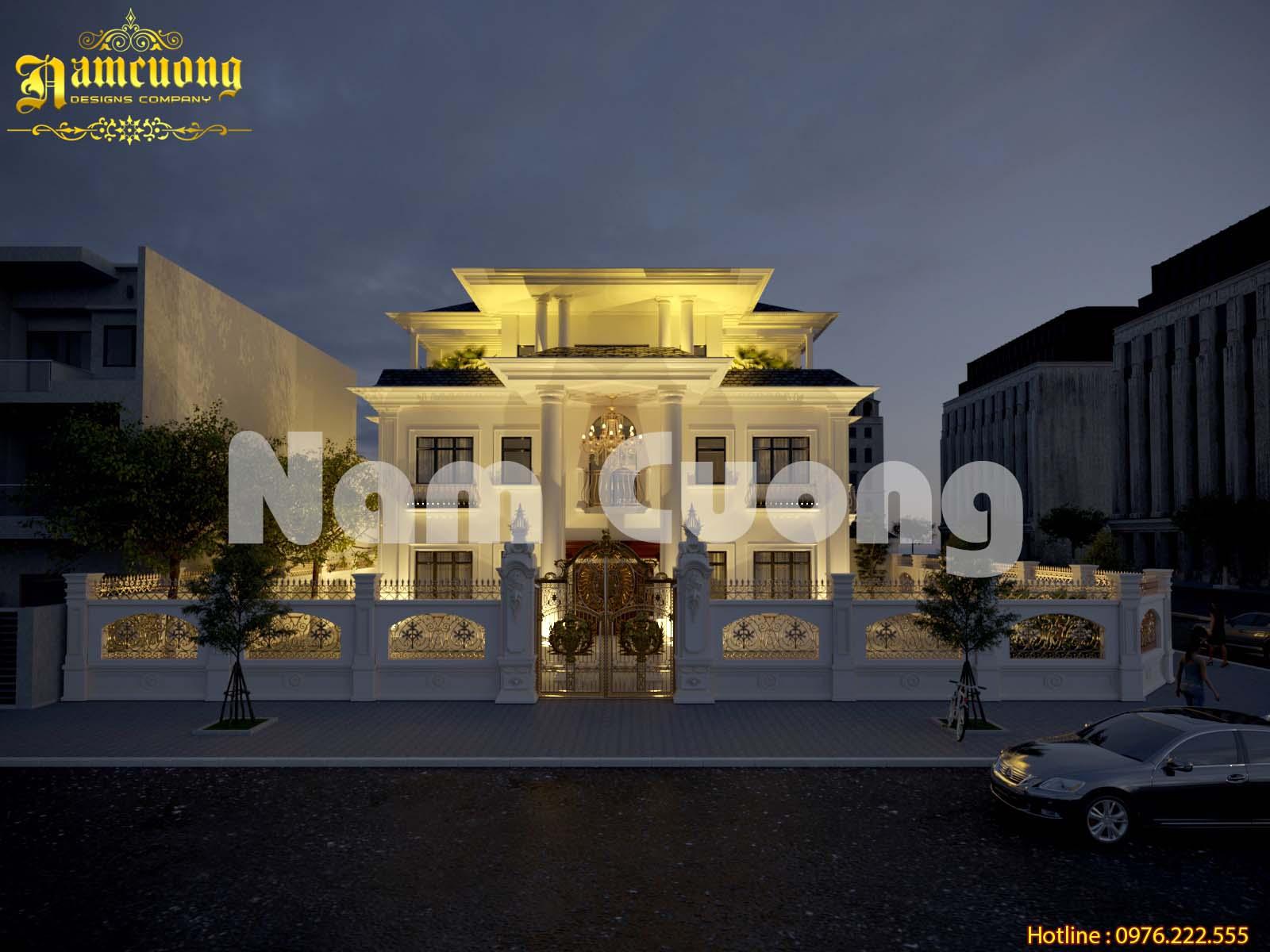 Mẫu thiết kế biệt thự tân cổ điển 3 tầng đẹp tại Quảng Bình