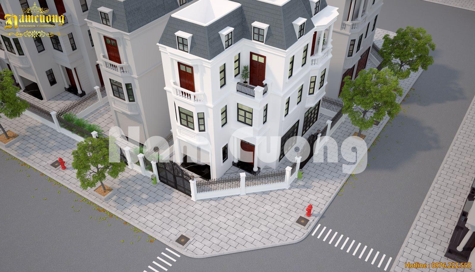 Hoàn tất thiết kế biệt thự tân cổ điển tại Vinhomes - BTTCD 031