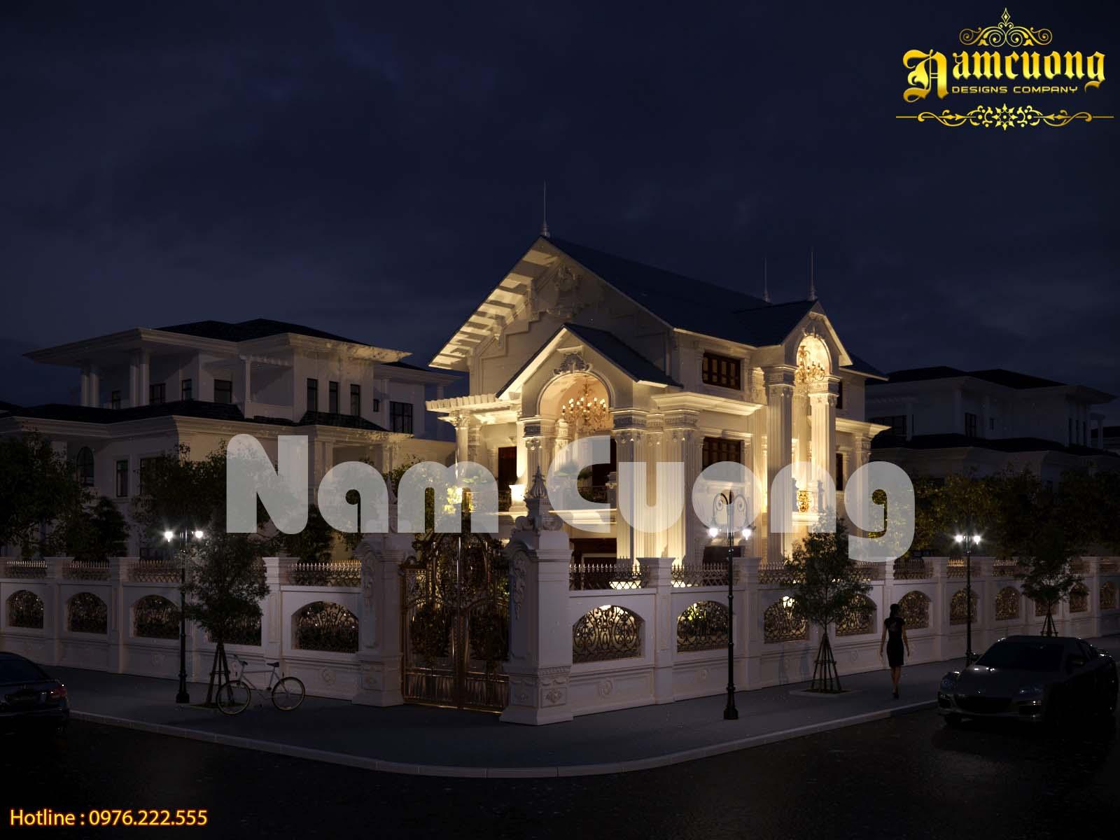 Vẻ đẹp hoàn mỹ trong mẫu kiến trúc biệt thự tân cổ điển