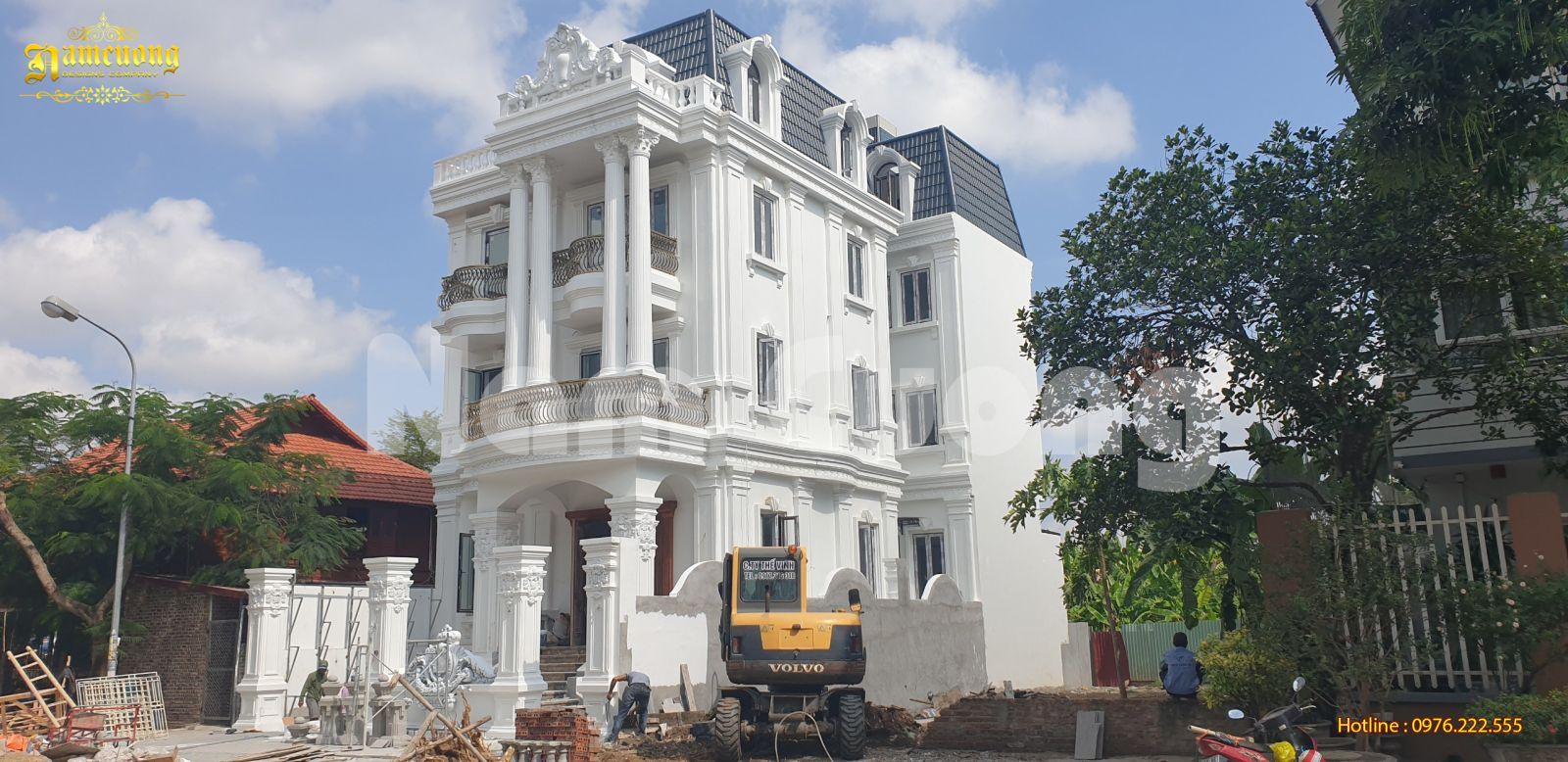 Thi công nhà đẹp 3 tầng kiến trúc Pháp- thi công hoàn thiện