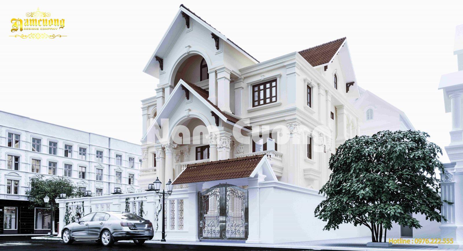 Hoàn thành thiết kế biệt thự tân cổ điển 3 tầng - BTTCD 033
