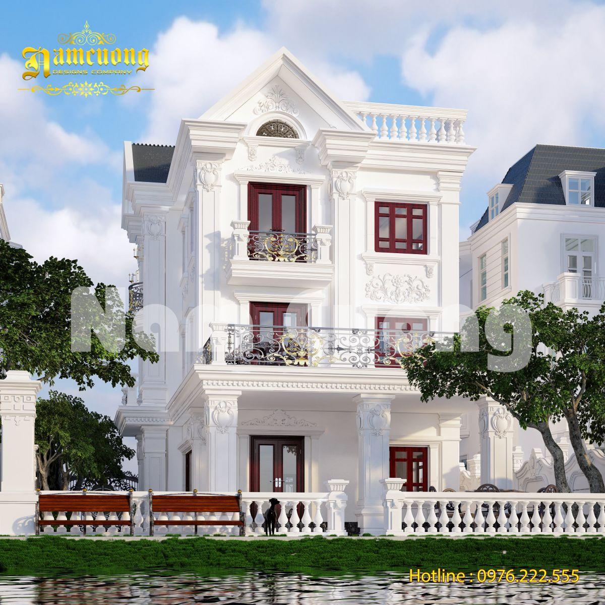 Hoàn thành thiết kế biệt thự tân cổ điển tại Vinhomes Hà Nội - BTTCD 036