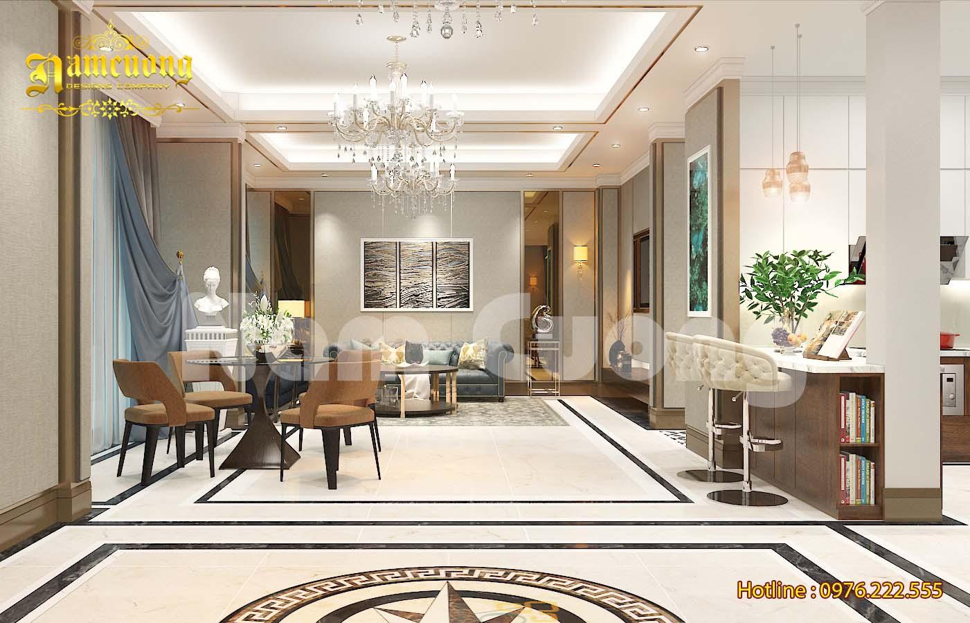 Không gian nội thất đẳng cấp của ngôi biệt thự tân cổ điển tại Hải Phòng