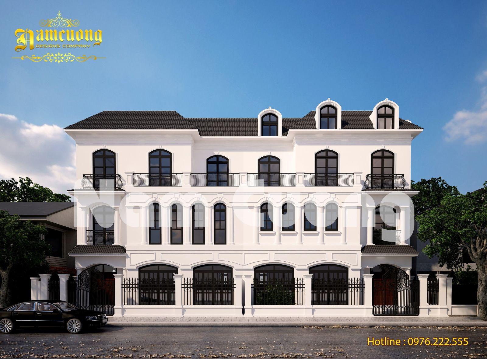 Phá cách mẫu thiết kế biệt thự tân cổ điển tại Hải Phòng - BTTCD 039