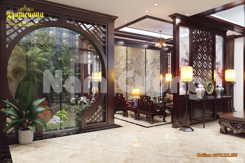 Thiết kế nội thất khách bếp của ngôi biệt thự tân cổ điển