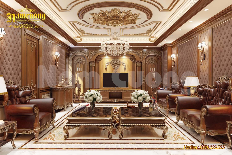 Thiết kế nội thất phòng karaoke cho biệt thự tân cổ điển