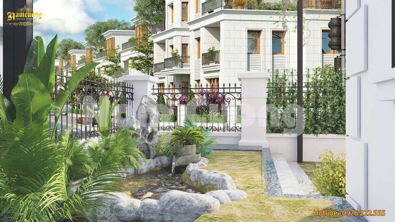 Thiết kế tiểu cảnh sân vườn biệt thự tại Vinhomes