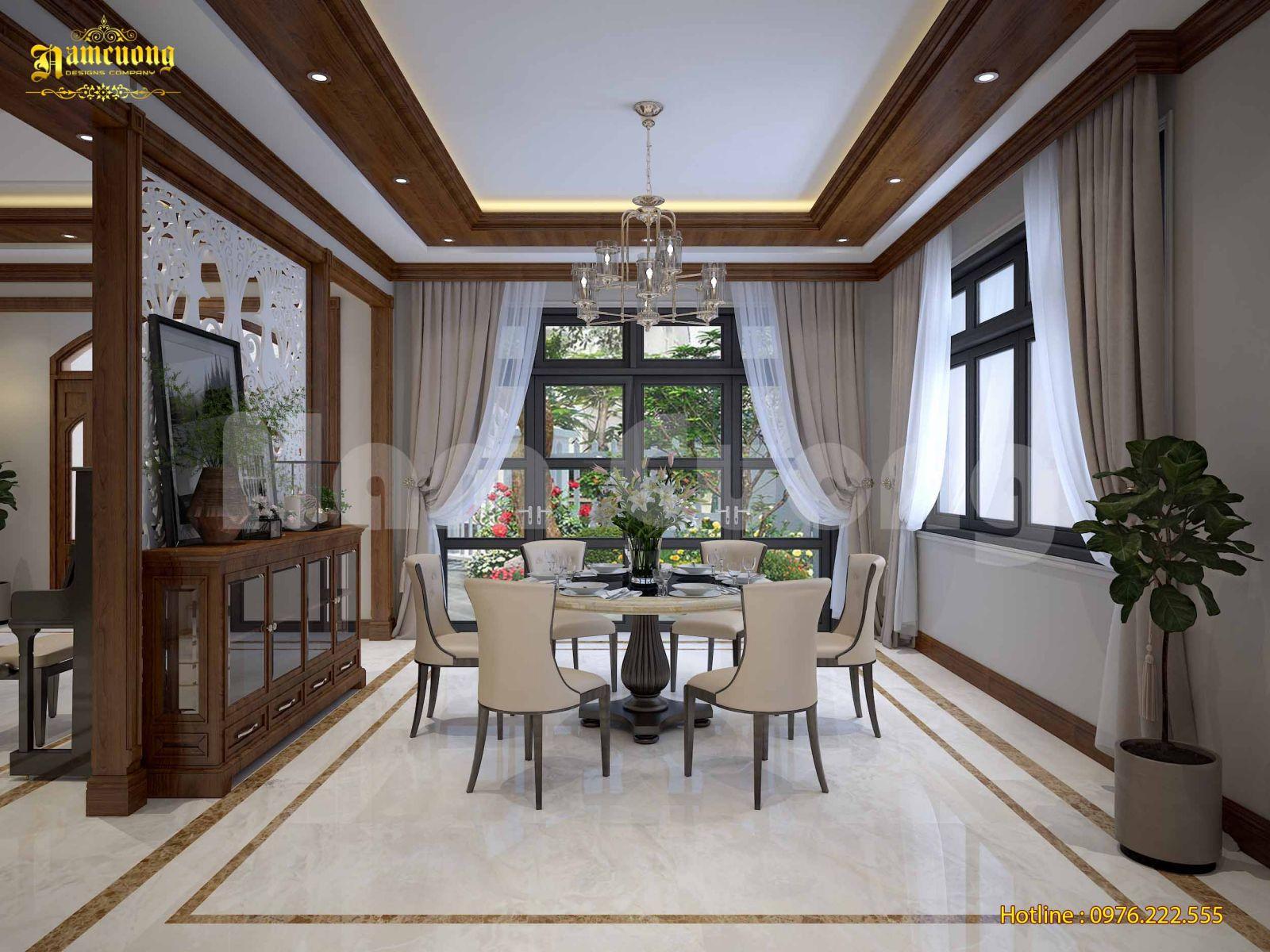 Mẫu thiết kế nội thất tân cổ điển cho nhà đẹp 3 tầng
