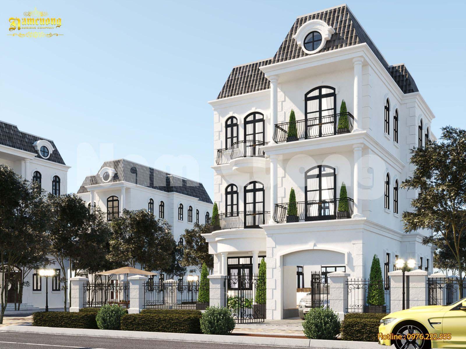 Thiết kế biệt thự đẹp 3 tầng phong cách tân cổ điển