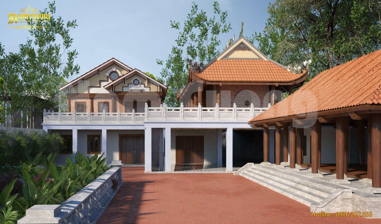 Hoàn thành mẫu thiết kế nhà đẹp 2 tầng tân cổ điển độc đáo
