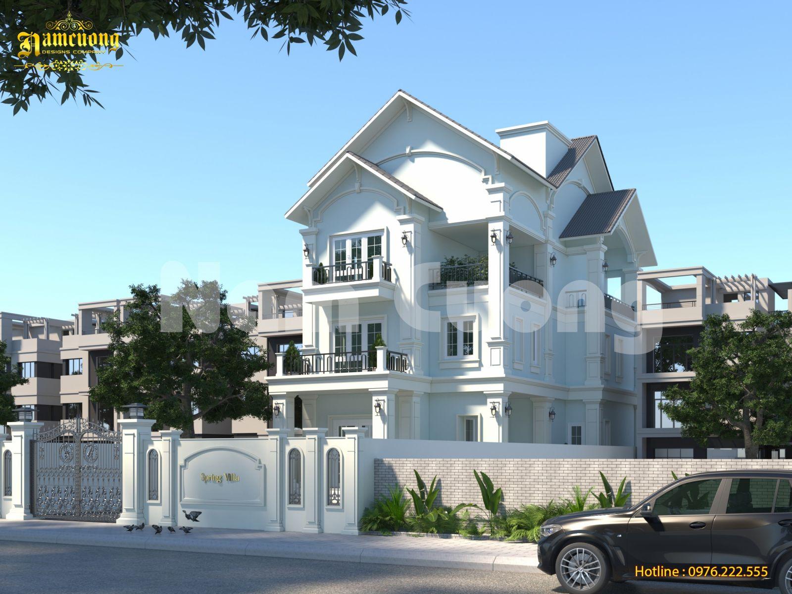 Hoàn thành thiết kế biệt thự tân cổ điển 3 tầng - CĐT cô Vang