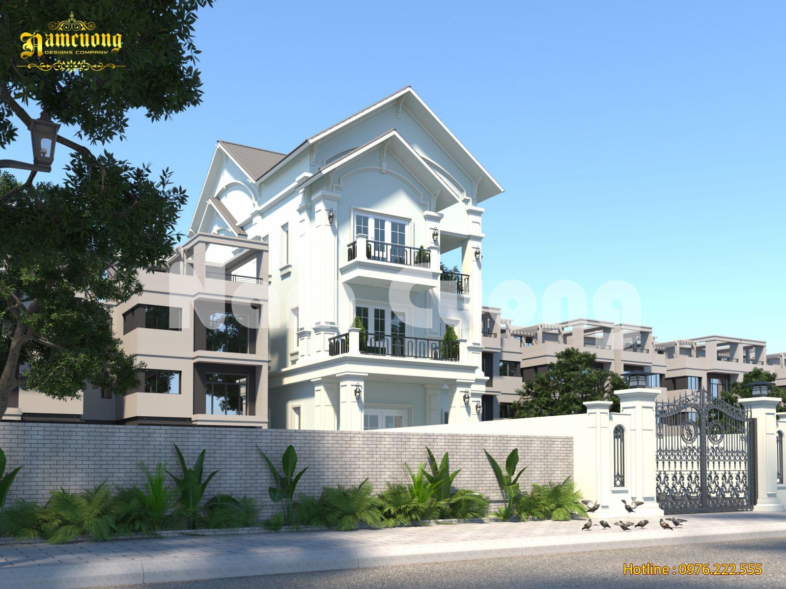 Thiết kế biệt thự tân cổ điển 3 tầng- CĐT cô Vang