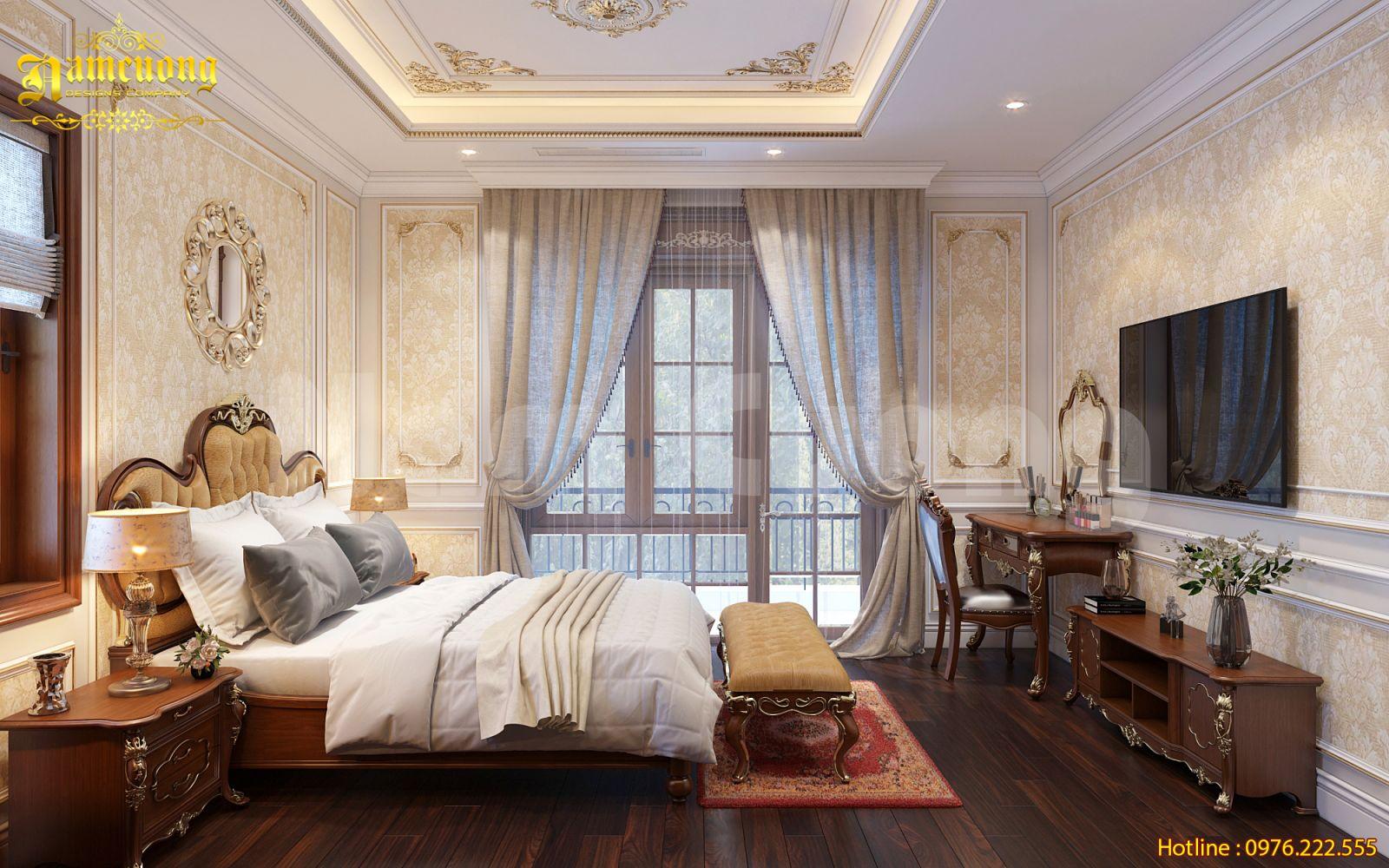 Thiết kế nội thất phòng ngủ tân cổ điển-CĐT Nguyễn Thị Vang