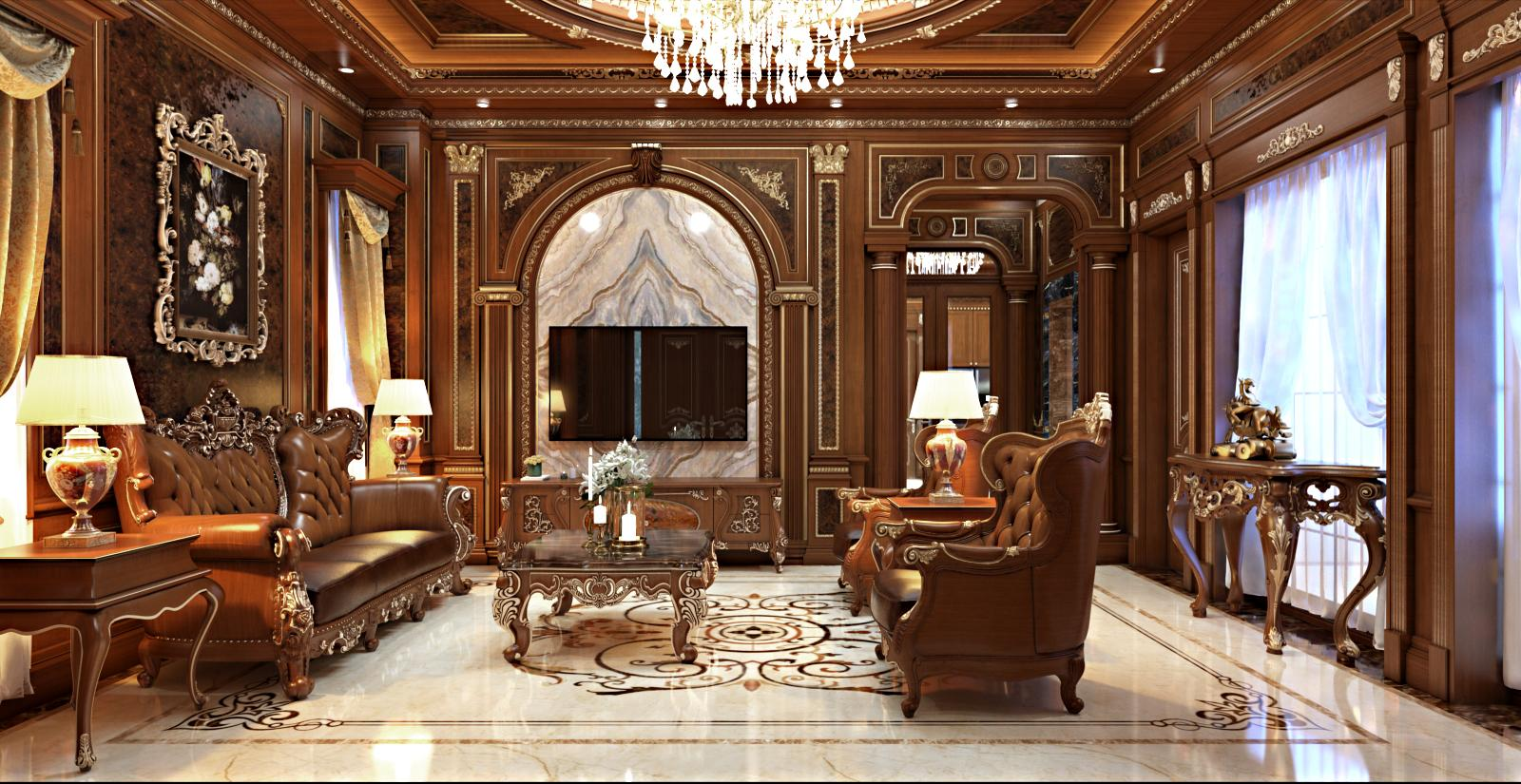 Thiết kế nội thất khách bếp bằng gỗ đẳng cấp tại Hải Phòng
