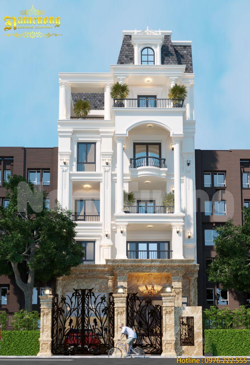 Mẫu thiết kế biệt thự phố 5 tầng hot nhất 2020-BTP 010