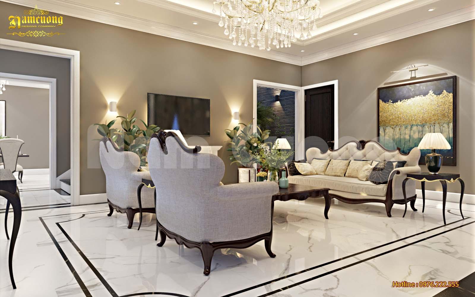 Thiết kế nội thất biệt thự tân cổ điển - CĐT Dương Mạnh Hùng