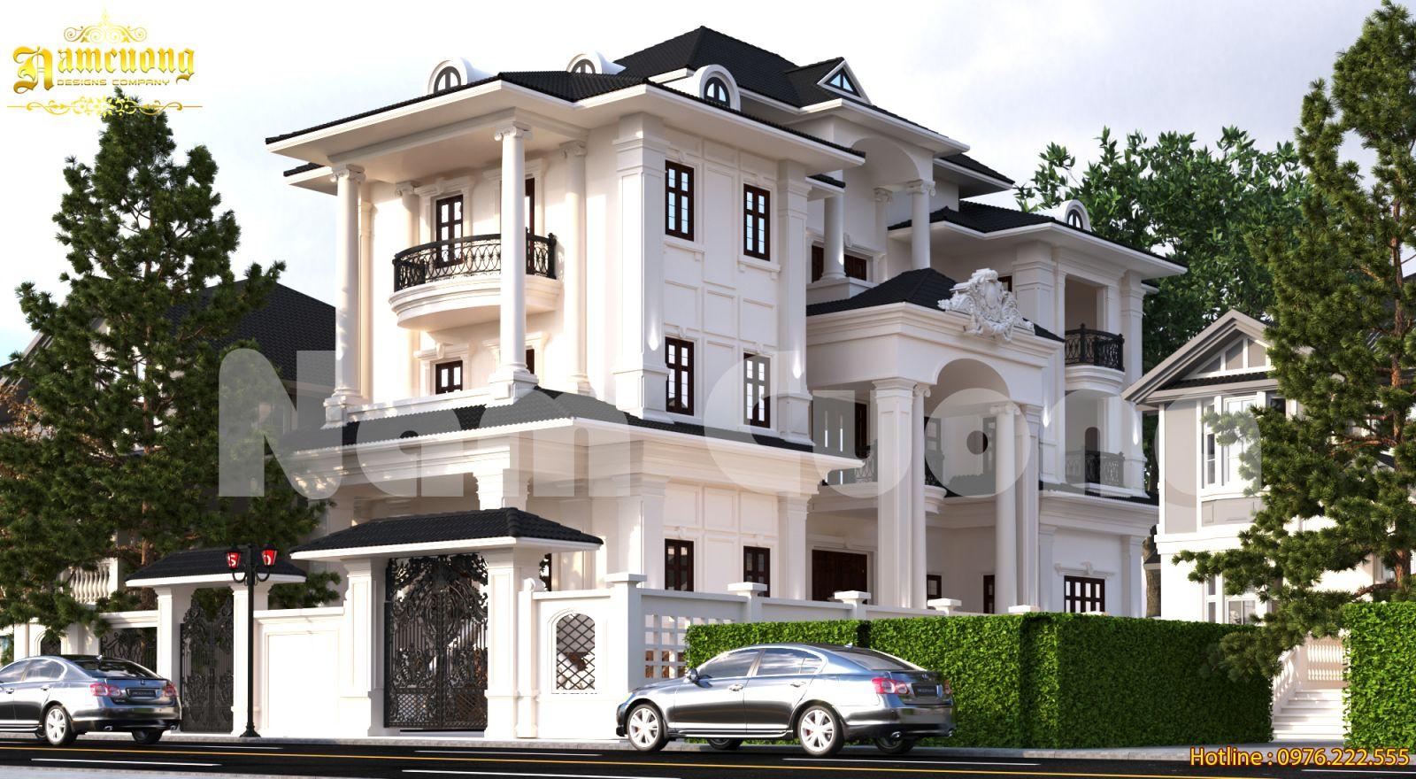 Thiết kế biệt thự 4 tầng mái thái đẹp chỉ với 3 tỷ đồng