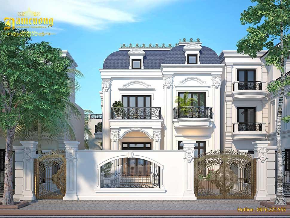 Thiết kế biệt thự 2 tầng 1 tum 2 mặt tiền