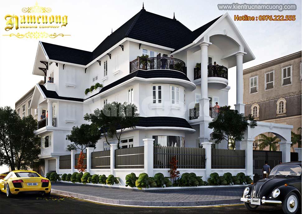 Mẫu biệt thự tân cổ điển 3 tầng 130m2 đẹp tại Quảng Ninh