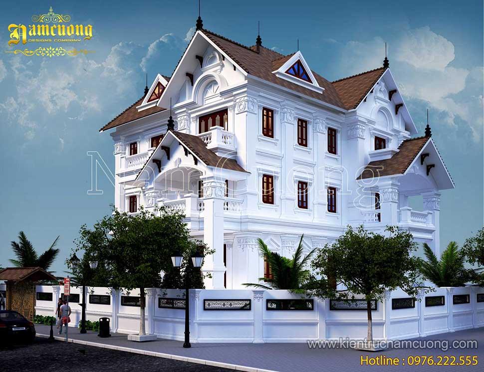 Mẫu thiết kế biệt thự tân cổ điển 3 tầng 400m2