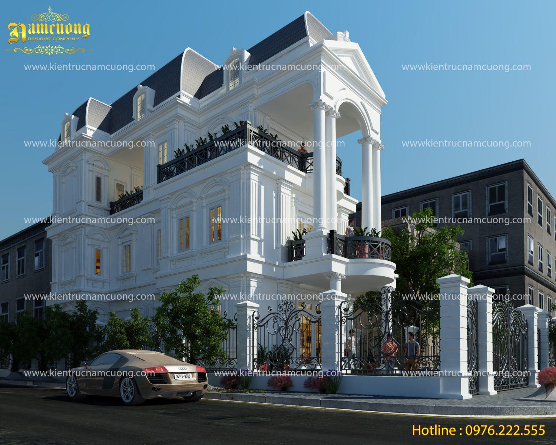 Vẻ đẹp của mẫu biệt thự tân cổ điển 3 tầng đẹp