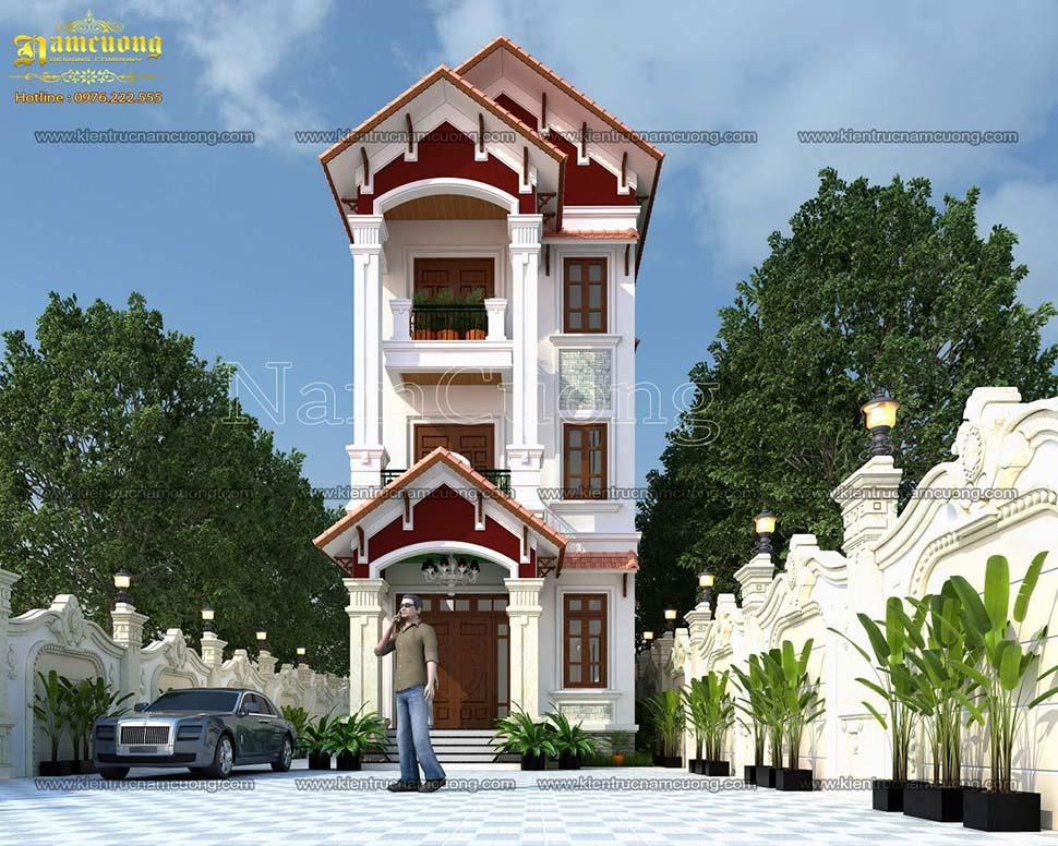 Mẫu biệt thự tân cổ điển 3 tầng mái thái được nhiều người yêu thích