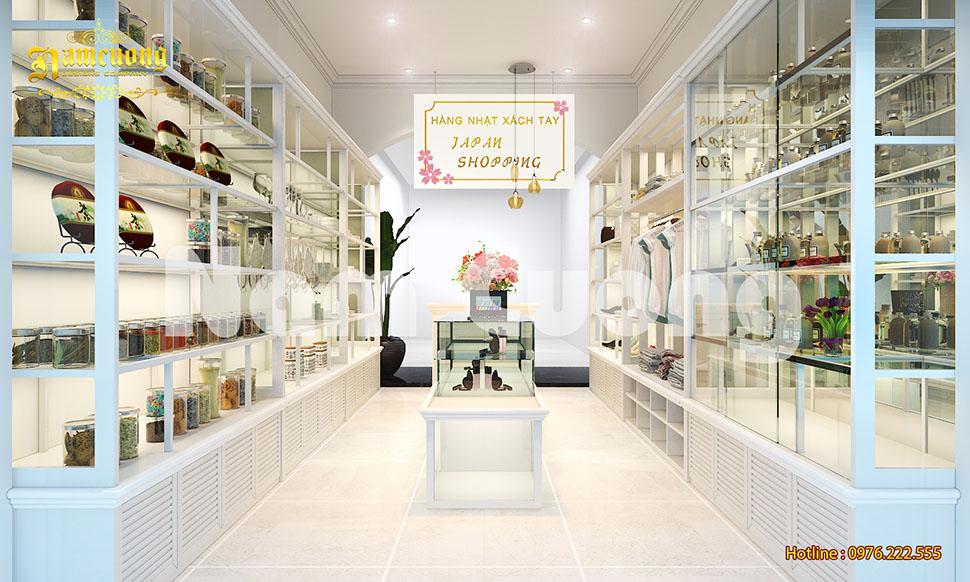 Thiết kế nội thất shop bán đồ xách tay Nhật tại Hải Phòng