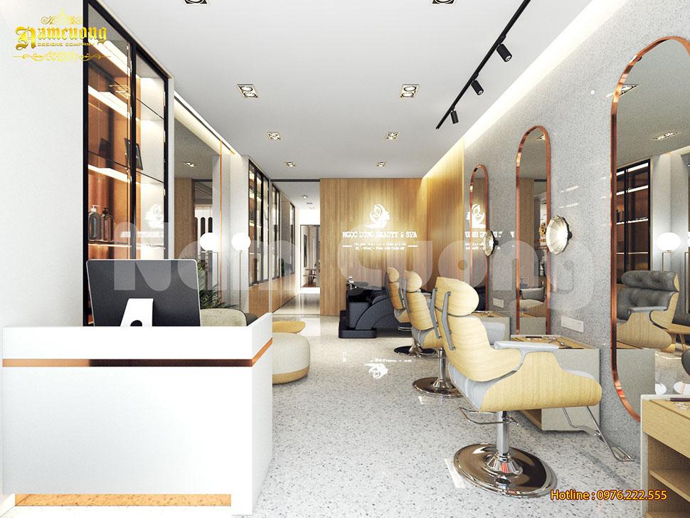 Thiết kế nội thất salon tóc và spa chăm sóc sắc đẹp