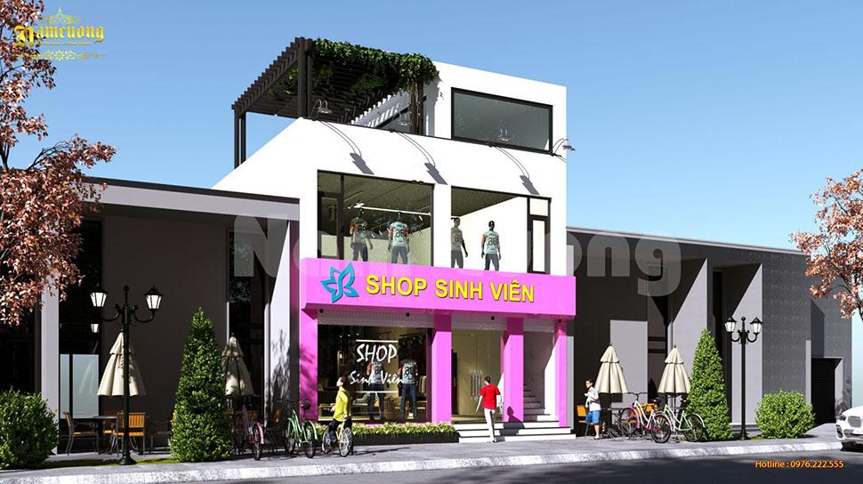Thiết kế shop thời trang 3 tầng - CĐT Nguyễn Ngọc Tuấn