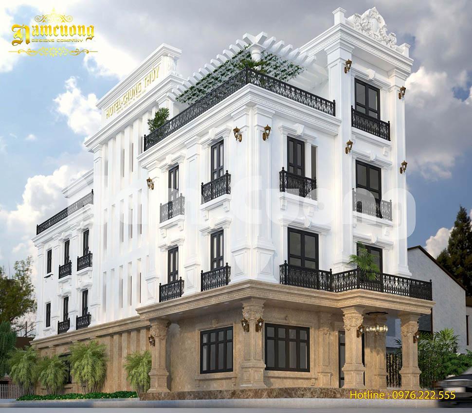 Thiết kế khách sạn mini tân cổ điển