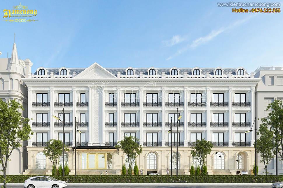 Thiết kế khách sạn 3 sao tân cổ điển sang trọng